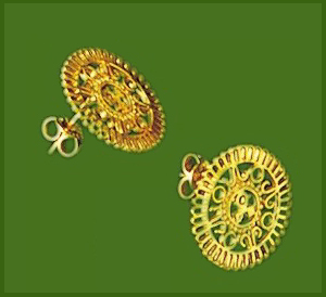 Oro de Monte Alban logo, Post Earring