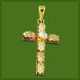 Cross with Two Color Leaves