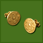 Small Aztec Calendar  Post Earrings