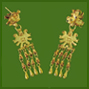 Broken Quetzatlcoatl Drop Earrings