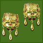 Xipe-Totec Large Earrings with Beads