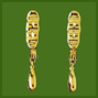 Jaguar Teeth Earrings